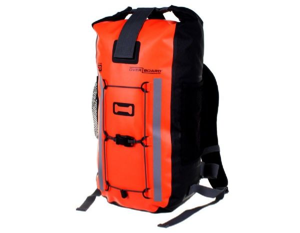 OverBoard Pro-Vis 100% Waterproof 20 Litres Backpack Rucksack - Hi Vis Orange- Cycling Walking